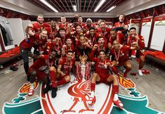 Dressing room photos: Champions celebrate Premier League glory Liverpool Fc, Liverpool Premier League, Liverpool Football Club, Bournemouth, Room Photo, League Champs, Liverpool Wallpapers, Alexander Arnold, This Is Anfield