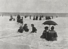 People at the beach. 1880's