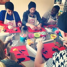 Creating celebrity gingerbread people  with Pentatonix