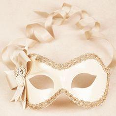 Verona Ivory/Bronze masquerade mask The bride's masque