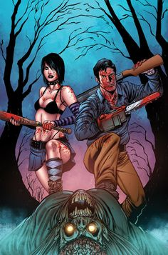 army of darkness zombies drawings | Hack/Slash Vs. Army Of Darkness (Comic) - Cover Art