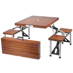 Folding Picnic Table.. could really use this!