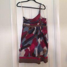 One Shoulder BCBG Dress One Shoulder Knotted Dress. Brand new, never worn with tags on BCBG dress. BCBGMaxAzria Dresses