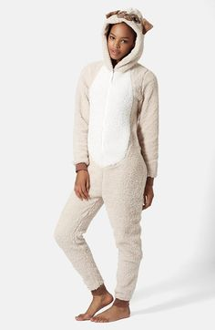 Topshop Pug Fleece Jumpsuit available at #Nordstrom  This is ridiculous