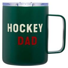 HOCKEY DAD METAL INSULATED MUG