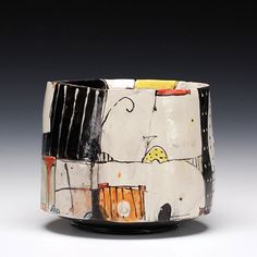 Schaller Gallery | Bede Clarke - Earthenware | Deep Bowl Clay Wall Art, Ceramic Wall Art, Ceramic Pots, Ceramic Decor, Ceramic Clay, Hand Built Pottery, Slab Pottery, Pottery Bowls, Ceramic Pottery