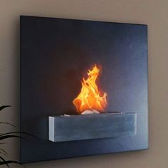 $649.00 Serafin Wall Mount Liquid Fuel Fireplace | Cool People Shop