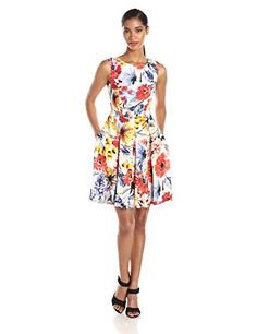 Donna Morgan Women's Cap Printed Sleeve Fit and Flare Dress, Red/Multi, 16 Donna Morgan http://www.amazon.com/dp/B00PIVDBGG/ref=cm_sw_r_pi_dp_aCFfvb0GFDXNS