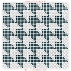 Houndstooth Variation #1 - Free Tapestry Crochet Pattern from AllTapestryCrochet.com