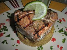 Chef JD's Classic Cuisine: Balsamic Salmon Steak a la Griglia with Moroccan S...