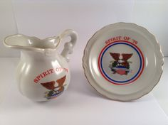 Vintage Spirit of '76 Pitcher and Plate Set by CrowsCollection on Etsy
