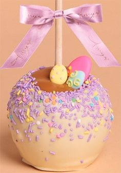 Gourmet Easter Apples Recipe ! How cute... Could still work for Halloween!