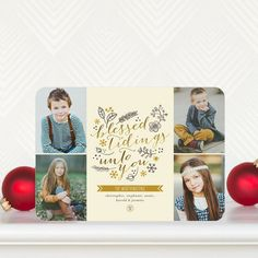 Glittery Sketch - #Holiday Photo Cards by Stacey Day for Tiny Prints