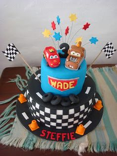 Every little boy needs to have at least one of his birthdays dedicated to cars. Car Party, Birthdays, Birthday Cake, Cars, Desserts, Food, Anniversaries, Tailgate Desserts, Deserts