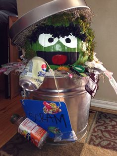 Oscar The Grouch decorative pumpkin