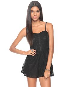 Forever 21 Floral Lace Romper $24.80   I want this!!