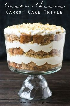 For those of you who want to eat layers of carrot cake without all the fuss of actually making said layers, this trifle is for you.  Get the recipe from Tastes of Lizzy T's »