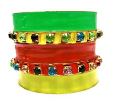 2014 Brasil World Cup Wrist Fashion Female Bracelets and Bangles. BrazilFlag Symbolic Fashion Jewelry Chic Handmade Bangle Set $6.50