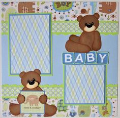Baby Scrapbook Layouts   BLJ Graves Studio: Baby Boy Scrapbook Pages
