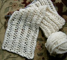 quick and easy knit scarf - free pattern!