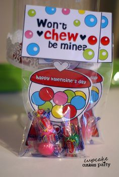 Gumball Love Combo Valentine DIY card - Cupcake Cutiees Party on Etsy but easy enough to