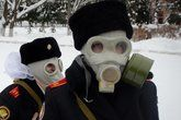 "Gas masks and hair bows:  They are ""the Little Spies of Putin"" — or at least that's what a French publication called them"