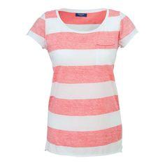 T-Shirt mit ringeln und Brusttasche