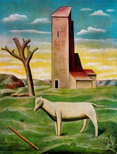This is Carlo Carrà's The Mill at St. Carlo Carrà is best known for his style of Metaphysical painting. He met Filippo Marinetti and the artist Umberto Boccioni in the year of who converted him to Futurism. Italian Painters, Italian Artist, Giacomo Balla, Italian Futurism, Modern Art, Contemporary Art, Futurism Art, Art Optical, Installation Art