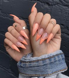 Pretty Fall Nail Art Designs Trends Ideas – Fashonails Source by birgkoch More from my Great Stiletto Nail Art Design Ideas 1 30 Great Stiletto Great Stiletto Nail Art Design Ideas – Simple Tip About Gel Nails Ideas for Fall Autumn Art Designs … Peach Nails, Orange Nails, Orange Nail Art, Blue Nail, Red Nail, Fabulous Nails, Perfect Nails, Glam Nails, Beauty Nails