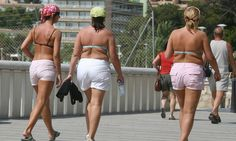 Holidaymakers who leave Majorca beaches in swimwear face fines Speedos, Swimsuits, Bikinis, Swimwear, Majorca, Swim Trunks, White Shorts, Tourism, Swimming