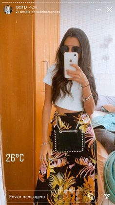Holiday Outfits, Summer Outfits, Casual Outfits, Looks Style, Casual Looks, My Style, Look Fashion, Womens Fashion, Flowy Skirt