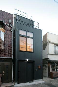 間口3.5m×奥行8.5m、9坪の土地に建つ狭小住宅|オリジナルデザイン住宅 MT邸 | 建築概要 | Boo-Hoo-Woo.com デザイン住宅施工例