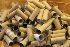 Tout un tas de rouleaux de papier hygiénique! C'est surprenant de voir tout ce qu'ils en ont fait!