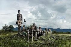 """Procession Under Tuma"", Bodi Me'en Tribe, Lower Omo Valley, Ethiopia  Photo by Joey L"