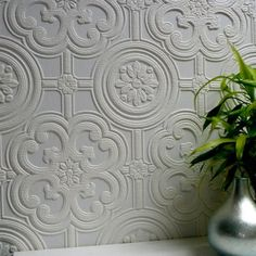 Brewster Egon Paintable Textured Vinyl Wallpaper, White