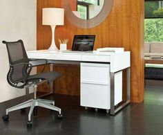 great office desk and chair choice for a small, compact space