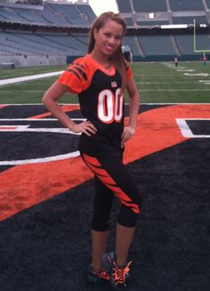 Cincinnati Bengals Inspired Yoga Pants Size XS-XL (Goes great with jersey and socks) Highest Quality Leggings