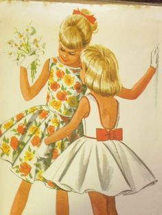 60s Dress Vintage Girl's Easy Sew Pattern McCall's by EmSewCrazy