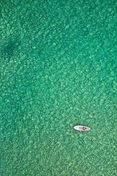unravel-travel:  ponderation:  Bondi Paddleboarder by Matt Lauder   Bondi Beach, Sydney, Australia