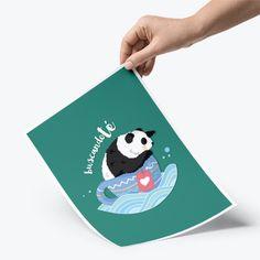Lámina A4 · Oso panda 'buscándote'