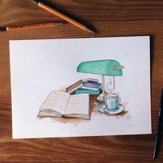 """Illustration ""Reading time""  #illustration #drawing #watercolor #art #waterblog #dailyarts #_tebo_  #instaartexplorer #rtistic_feature #BLVART…"""
