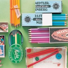 """Felissimo's 500 Colored Pencils is a subscription based program where subscribers receive color themed sets of 25 pencils each month. Colors include names like """"Arizona Sunset"""" and """"Drizzly Afternoon."""""""