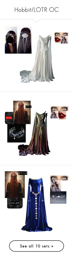 """""""Hobbit/LOTR OC"""" by wolf-kitten-kat ❤ liked on Polyvore featuring Charlotte Tilbury, Hershesons, Balmain, AllSaints, Faith Connexion, Ella Moss, WearAll and CO"""