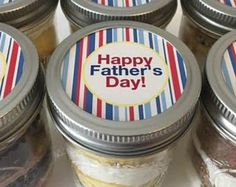 Cupcake Jars-Mason Jars-Happy Father's Day-Gifts for Dad-Sweet Tooth-Father-Dad-Grandpop