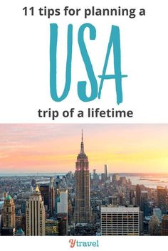USA Travel Tips - 11 things to know before you visit the USA. Click inside for tips on visas, flights, accommodation, getting around and much more!  #USATravel #BucketList #yTravel #yTravelBlog