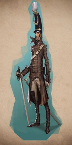 Officer - character design illustration