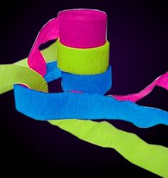 Black Light Reactive Neon Party Streamers                              …