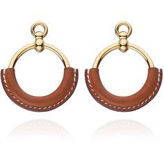 Hermès Loop Earrings (1.915 BRL) ❤ liked on Polyvore featuring jewelry, earrings, loop earrings and earrings jewelry
