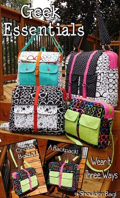 Geek Essentials Computer Bag Sewing Pattern Download