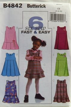 Butterick 4842 Toddlers' Jumpers